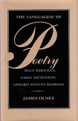 9780820314853: The Language(s) of Poetry : Walt Whitman, Emily Dickinson, Gerard Manley Hopkins