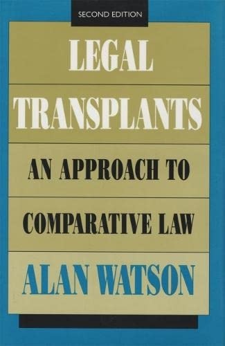 9780820315324: Legal Transplants: An Approach to Comparative Law