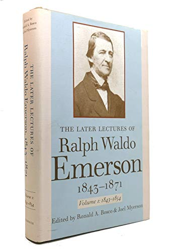 9780820322957: The Later Lectures of Ralph Waldo Emerson, 1843–1871 (v. 1)