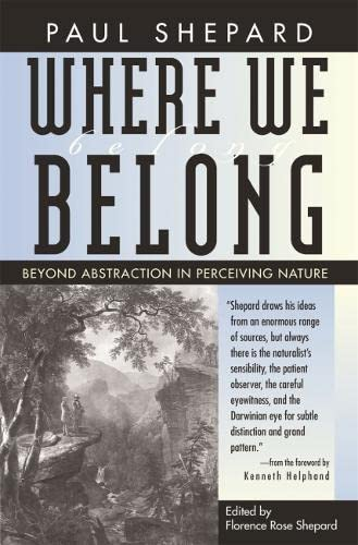 9780820333458: Where We Belong: Beyond Abstraction in Perceiving Nature