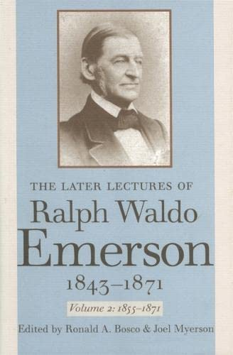 9780820334707: The Later Lectures of Ralph Waldo Emerson, 1843-1871, Vol. 2: 1855-1871