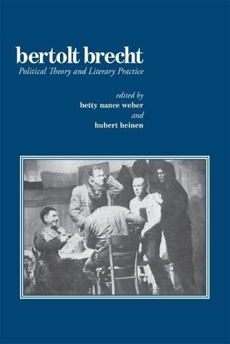 9780820334783: Bertolt Brecht: Political Theory and Literary Practice