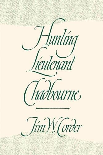 9780820338040: Hunting Lieutenant Chadbourne
