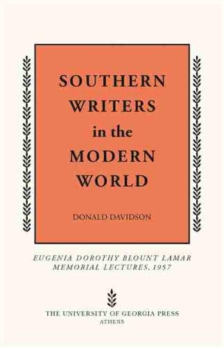 Southern Writers in the Modern World: Davidson, Donald