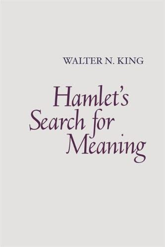 9780820338552: Hamlet's Search for Meaning