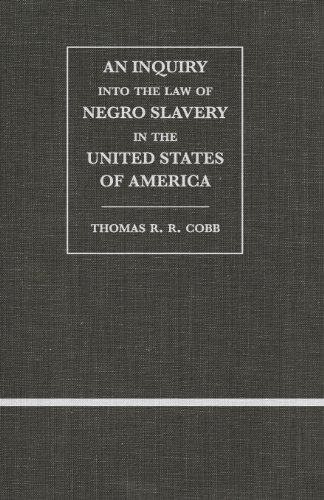 9780820340951: An Inquiry into the Law of Negro Slavery in the United States of America