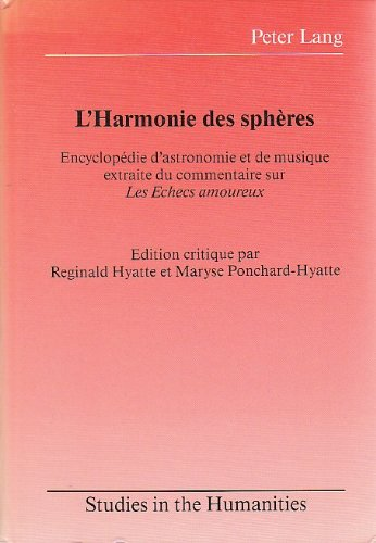 9780820401652: L'harmonie des sphères (Studies in the Humanities) (French Edition)