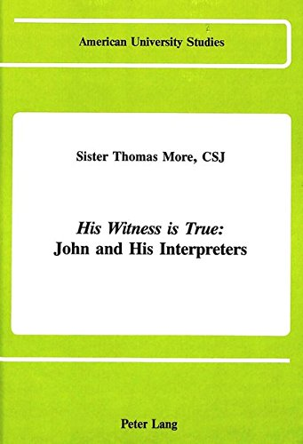 His Witness is True: More, Sister Thomas