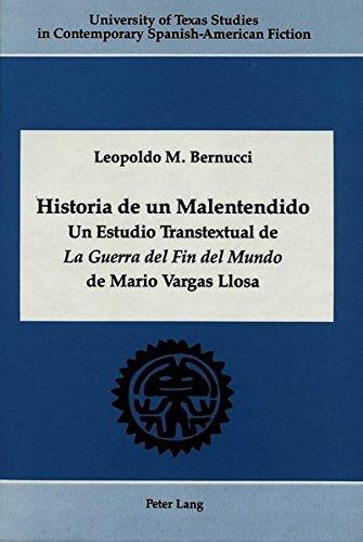 9780820409740: Historia de un Malentendido (University of Texas Studies in Contemporary Spanish-American Fiction)