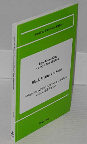 9780820411866: Black Mothers to Sons (American University Studies Series XIV, Education)
