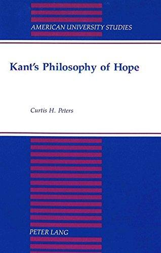 9780820413860: Kant's Philosophy of Hope (American University Studies)