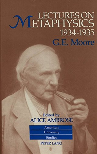 Lectures on Metaphysics, 1934-1935 Edited by Alice Ambrose: AMBROSE ALICE ED.