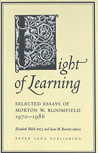 9780820417660: Light of Learning: Selected Essays of Morton W. Bloomfield 1970-1986