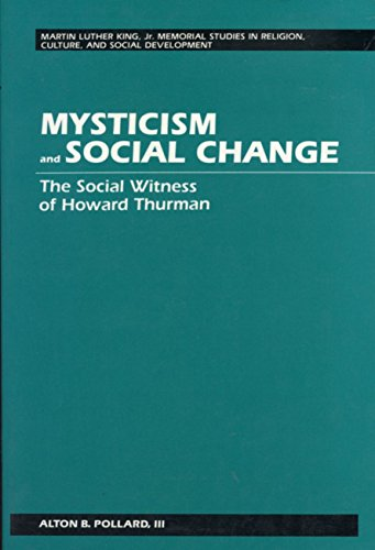 9780820419817: Mysticism and Social Change (Martin Luther King Jr. Memorial Studies in Religion, Culture, and Social Development)