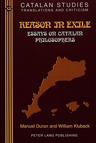 Reason in Exile Essays on Catalan Philosophers: DURAN M./KLUBACK W.