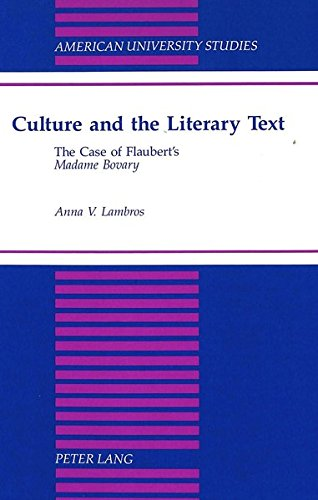Culture and the Literary Text The Case: Lambros, Anna V.