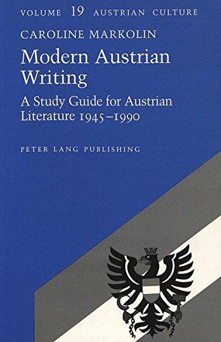 Modern Austrian Writing: A Study Guide for: Caroline Markolin