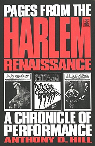 9780820428642: Pages from the Harlem Renaissance: A Chronicle of Performance (Studies in African and African-American Culture, Vol. 6)