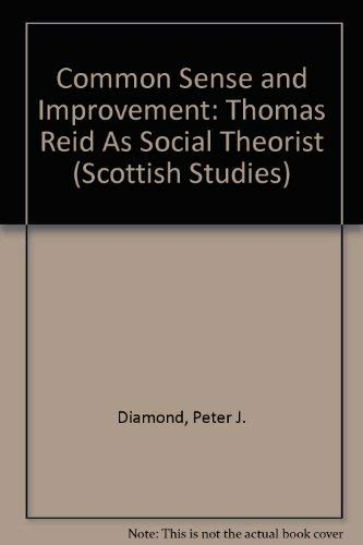 9780820436074: Common Sense and Improvement: Thomas Reid as Social Theorist