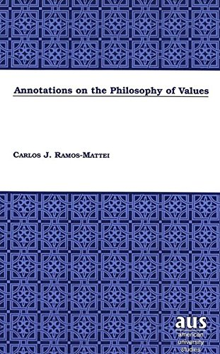 Annotations on the Philosophy of Values: RAMOS-MATTEI CARLOS J.