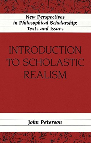 9780820442709: Introduction to Scholastic Realism (New Perspectives in Philosophical Scholarship)