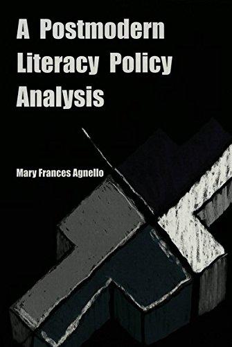 9780820445618: A Postmodern Literacy Policy Analysis