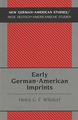 9780820449128: Early German-American Imprints