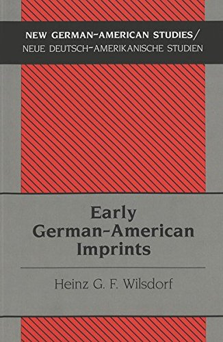 9780820449128: Early German-American Imprints