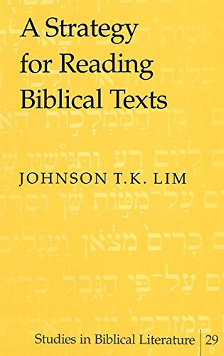 9780820450285: A Strategy for Reading Biblical Texts (Studies in Biblical Literature)