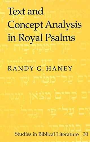 9780820450483: Text and Concept Analysis in Royal Psalms (Studies in Biblical Literature)