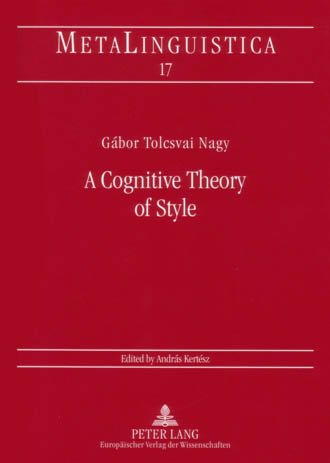9780820453613: A Cognitive Theory of Style (Metalinguistica)