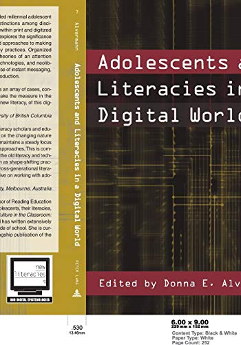 9780820455730: Adolescents and Literacies in a Digital World (New Literacies and Digital Epistemologies)