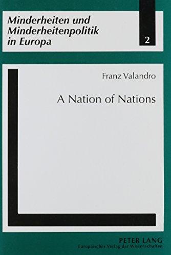 9780820460079: A Nation of Nations: Nationalities' Policies in Spain (Minderheiten Und Minderheitenpolitik in Europa, Bd. 2)
