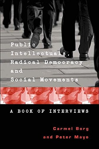 9780820470764: Public Intellectuals, Radical Democracy and Social Movements: A Book of Interviews (Counterpoints)