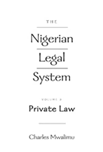 9780820471266: The Nigerian Legal System: Private Law v. 2