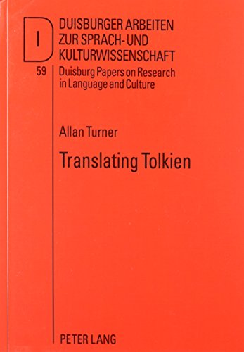9780820476803: Translating Tolkien: Philological Elements in the Lord of the Rings (Duisburg Papers on Research in Language and Culture)