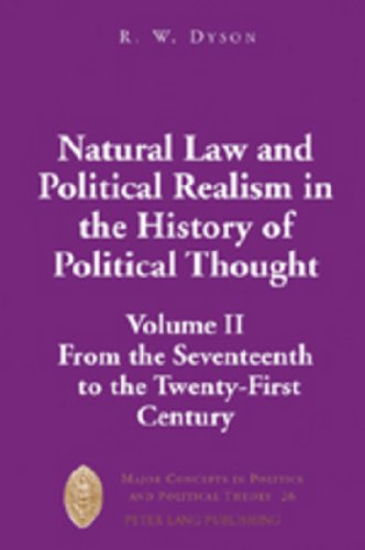 Natural Law and Political Realism in the: Dyson, R.W.
