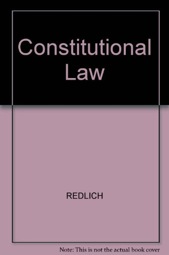9780820500812: Constitutional Law