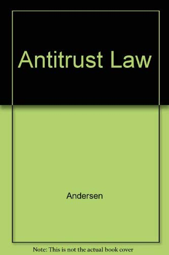 9780820503196: Antitrust Law (Analysis and skills series)