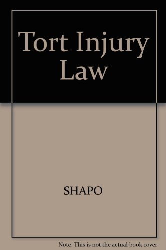 9780820504513: Tort Injury Law (Cases and materials series)