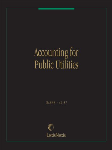 9780820510163: Accounting for Public Utilities