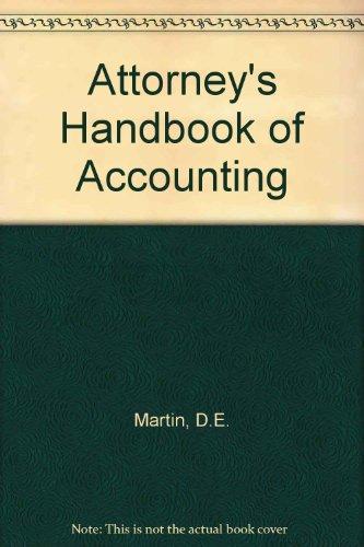 9780820510323: Attorney's Handbook of Accounting