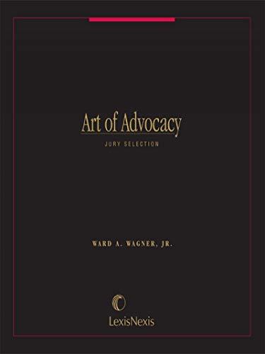 9780820510408: Art of Advocacy: Jury Selection