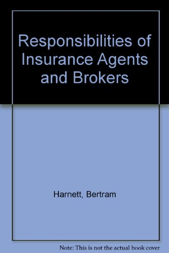 9780820513621: Responsibilities of Insurance Agents and Brokers