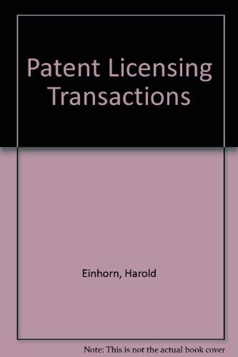 9780820515311: Patent Licensing Transactions