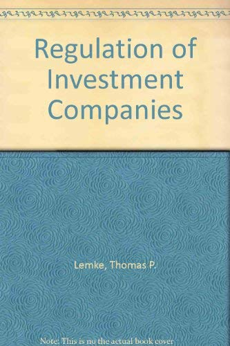9780820520056: Regulation of Investment Companies