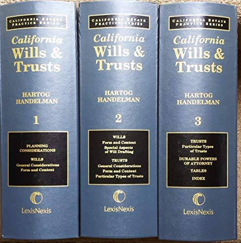 Wills & Trusts: Treatise Volumes: Handelman, Hartog