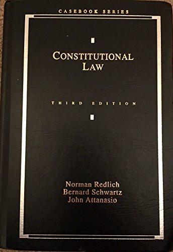 9780820527017: Constitutional Law (Casebook Series)