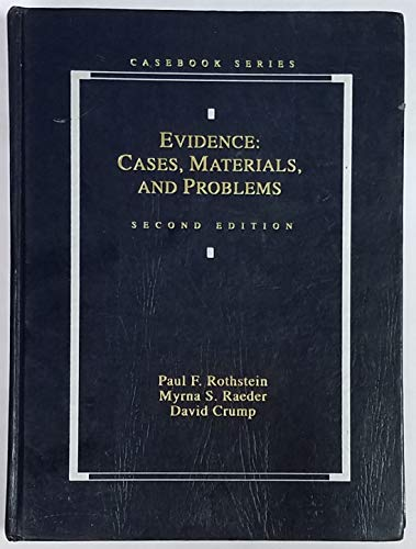 9780820531182: Evidence: Cases, Materials, and Problems (Casebook Series)