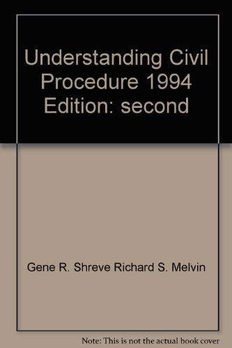9780820539164: Understanding civil procedure (Legal text series)